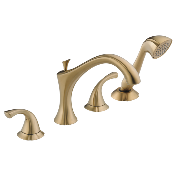 //WSL// DELTA T4792CZ ADDISON 4-HOLE ROMAN TUB FILLER CHAMPAGNE BRONZE MC300650