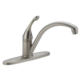 140-SS-DST Single Handle Kitchen Faucet (Valve and Shower Head Sold Separately)