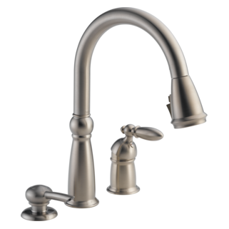 Single Handle Pull-Down Kitchen Faucet with Soap Dispenser and ShieldSpray<sup>&reg;</sup> Technology