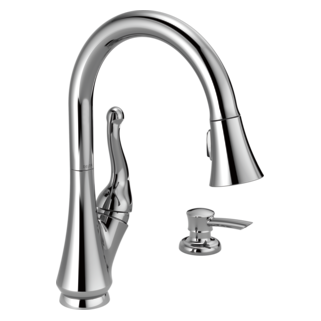 16968-SD-DST Single Handle Pull-Down Kitchen Faucet with Soap Dispenser (Valve and Shower Head Sold Separately)