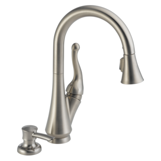 16968-SSSD-DST Single Handle Pull-Down Kitchen Faucet with Soap Dispenser (Valve and Shower Head Sold Separately)