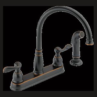 21996LF-OB Two Handle Kitchen Faucet