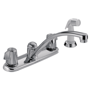 2400LF Two Handle Kitchen Faucet with Spray