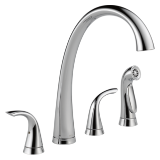 2480-DST Two Handle Widespread Kitchen Faucet with Spray