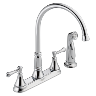 2497LF Two Handle Kitchen Faucet with Spray
