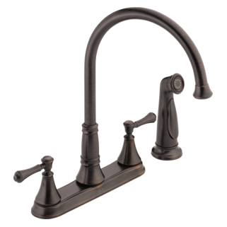 2497LF-RB Two Handle Kitchen Faucet with Spray