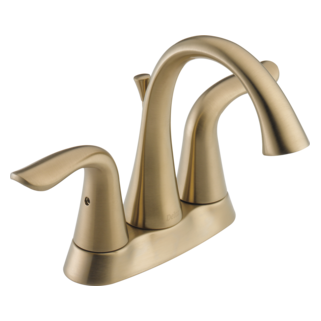Delta 2538-CZMPU-DST - Delta Lahara: Two Handle Centerset Lavatory Faucet, With Pop-Up - Champagne Bronze