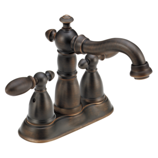 Delta 2555-RBMPU-DST - Delta Victorian: Two Handle Centerset Lavatory Faucet, With Pop-Up - Venetian Bronze