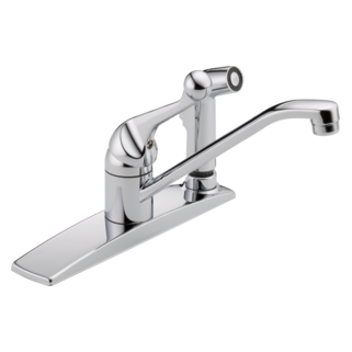 300LF-WF Single Handle Kitchen Faucet with Integral Spray (Valve and Shower Head Sold Separately)