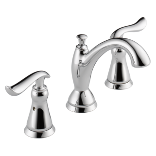Linden Two Handle Widespread Lavatory Faucet  Bathroom Collection Delta