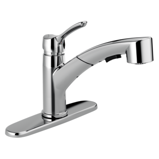 ! SINGLE HANDLE PULL-OUT KITCHEN FAUCET - COLLINS