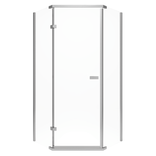 Delta 38  Frameless Neo Angle Shower Enclosure & Shower Doors u0026 Enclosures | Frameless Shower Doors | Delta Faucet
