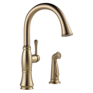 4297-CZ-DST Single Handle Kitchen Faucet with Spray (Valve and Shower Head Sold Separately)