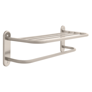 "43624-SN 24"" Stainless Steel Towel Shelf with One Bar, Exposed Mounting"