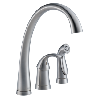 4380-AR-DST Single Handle Kitchen Faucet with Spray (Valve and Shower Head Sold Separately)