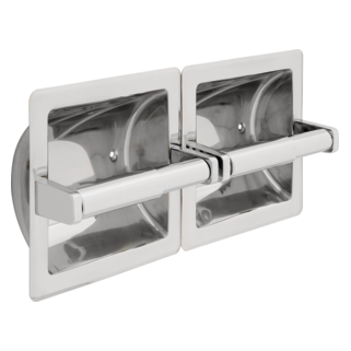 44970-ST Stainless Steel Recessed Twin Paper Holder, Horizontal (Valve and Shower Head Sold Separately)