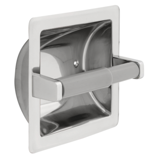 45070-ST Stainless Steel Recessed Paper Holder with Plastic Roller (Valve and Shower Head Sold Separately)