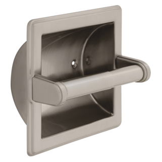 45072-SN Brass Recessed Paper Holder with Brass Roller