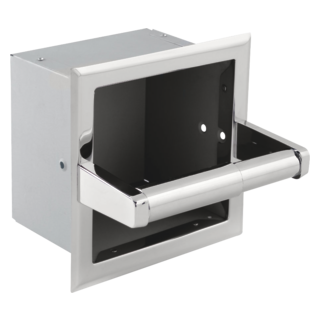 45470-ST Stainless Steel Recessed Extra Roll Paper Holder (Valve and Shower Head Sold Separately)