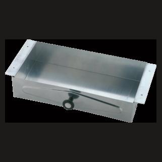 46090 Steel Recessed Vanity Tissue Cabinet Galvanized