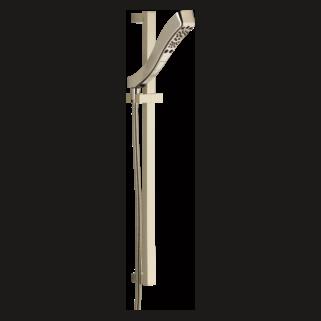 51552-PN H2Okinetic 4-Setting Slide Bar Hand Shower (Valve and Shower Head Sold Separately)
