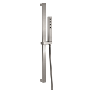 51567-SS H2Okinetic Single-Setting Slide Bar Hand Shower (Valve and Shower Head Sold Separately)