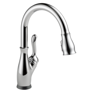 leland single handle pulldown kitchen faucet with touch2o technology