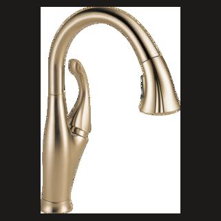 Delta 9192-CZ-DST - Delta Addison: Single Handle Water Efficient Pull-Down Kitchen Faucet, Champagne Bronze