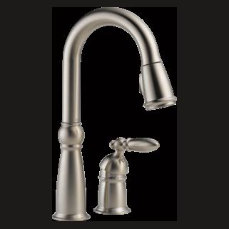 Delta Victorian: Single Handle Bar/Prep Faucet - 9955-SS-DST