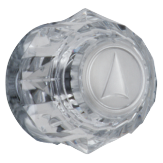 H31 Single Clear Knob Handle (Valve and Shower Head Sold Separately)