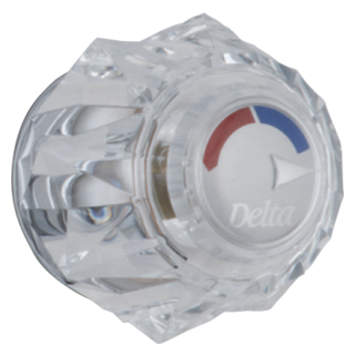 Delta H71 - Single Clear Knob Handle Kit for Tub and Shower Valves