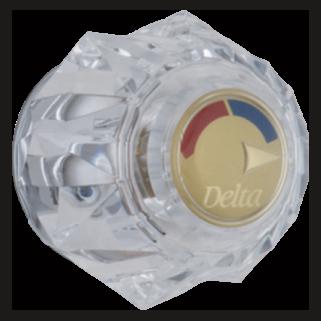 Delta: Single Clear Knob Handle Kit - H71PB