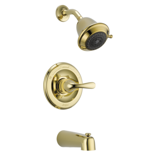 Delta T13420-PBSHCCER - Delta Classic: Monitor(R) 13 Series Tub And Shower Trim, Polished Brass