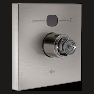 T14001-SST2O-LHP Angular Modern Temp2O Valve Only - Less Handles (Handles Sold Separately)