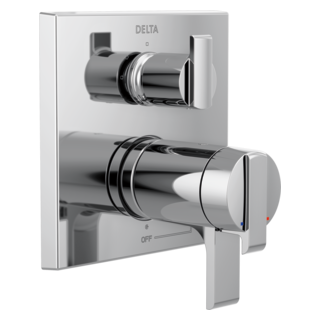 delta angular modern tempassure 17t series valve trim with 3setting integrated diverter - Shower Diverter