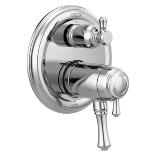 delta traditional 2handle tempassure 17t series valve trim with 6setting integrated diverter
