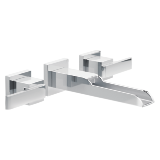 Delta T3568LF-WL - Delta Ara: Two Handle Wall-Mount Lavatory Faucet With Channel Spout