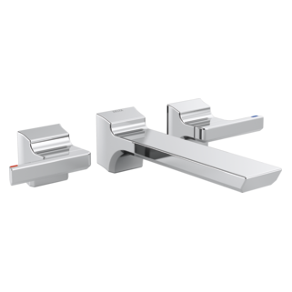 Beau Pivotal Two Handle Wall Mount Bathroom Faucet Trim