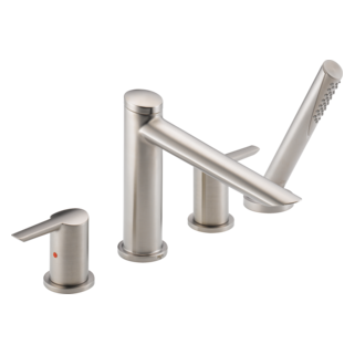 Delta T4761-SS - Delta Compel: Roman Tub W/ Hand Shower Trim, Stainless